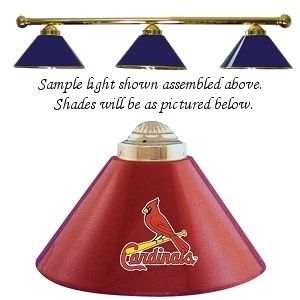 MLB St Louis Cardinals 3SHADE Pool Billiard Table Light