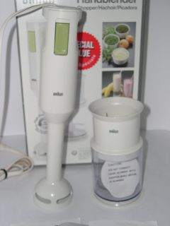BRAUN IMMERSION BLENDER MULTIQUICK MR 360 MR360 HAND STICK +CHOPPER