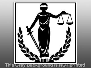 Blind Justice Sticker Decal Lady Balance Scale Symbol
