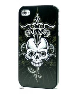 3D Relief Bling Rhinestones Hard Cover Case for iPhone 4 U863A