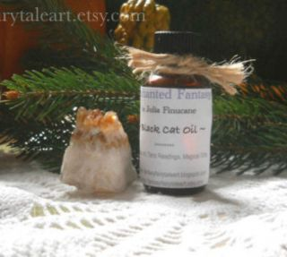 Black Cat Oil Large 1oz Bottle Ritual Spell Good Luck Money Love Hex
