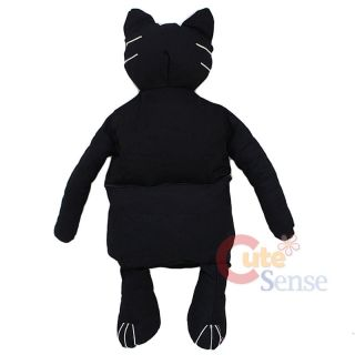 Black Cat Plush Doll Bag Halloween Custume Bag 33 x Large