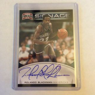 2012 13 PANINI THREADS ROLANDO BLACKMAN AUTO