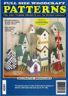 Decorative Birdhouses Woodcraft Woodworking Pattern