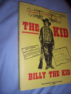 Billy The Kid Western Bill Rakocy Book Vintage Gunfighter Outlaw Old