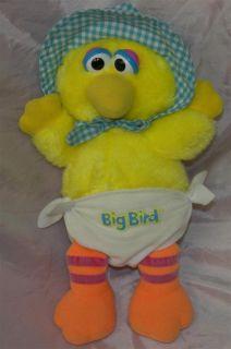 Playskool Sesame Street 12 Plush Yellow Baby Big Bird Diaper