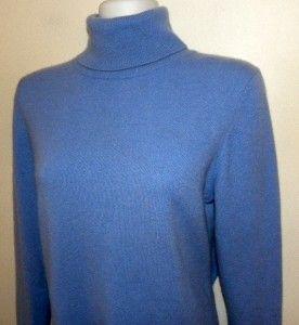 Sutton STUDIO100 Cashmere Blue Womens Sweater Size L