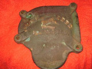 Vintage John Deere Cast Iron mower Gearbox Lid cover primitive farm
