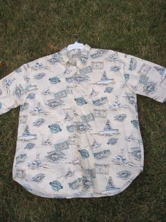 BIMINI BAY OUTFITTERS LTD FISH BOAT SHIRT XXL Button Down Mens Shirt