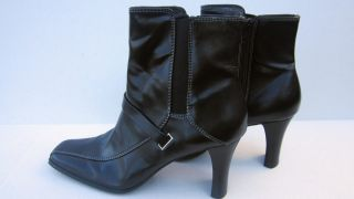 Etienne Aigner Women Ankle Boots Black 7 5M Excellent