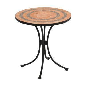 Home Styles Terra Cotta Tile Top Patio Bistro Table