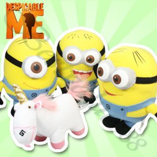 Despicable Me Minion Stuffed Plush Toy Doll 9 3D Eyes Birthday Xmas