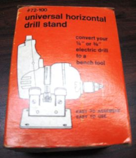 BLACK & DECKER UNIVERSAL HORIZONTAL DRILL STAND. Vintage. New in