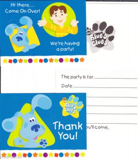 Blues Clues Birthday Party Supplies Invitations