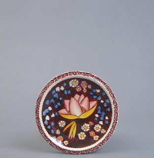 Vernon Kilns Pottery Blanding Lei Lani Bread Plate