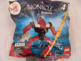 McDonalds Happy Meal Toy Lego Bionicle Barraki 4 Kalmah Figure 2007