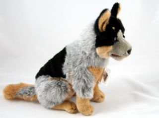 Cattle Dog Blue Heeler Stuffed Plush Toy New Marshall