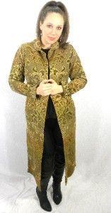 Santa Barbara Boutique Full Length Bronze Poppy Coat S