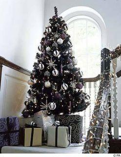 feet pre lit Tuxedo Black Christmas Tree 400 lights 600 tips