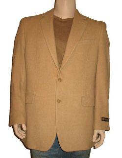 Mens Tan Black 100 Camel Hair Blazer Jacket Sport Coat $295 00