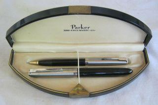 Vintage Parker Mixed Pen Pencil Set w Vacumatic Case