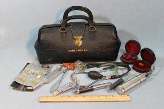 Dr Charles E Chuck Biscoe Doctors Bag Medical Instruments