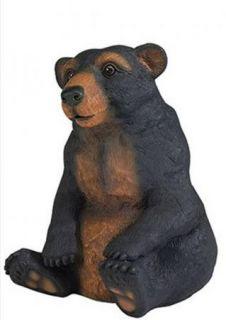 Sitting Black Bear Mom Statue Outdoor Woods Lawn Decor