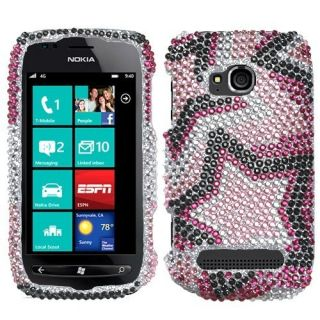 For Nokia Lumia 710 Crystal Diamond Bling Protector Case Phone Cover