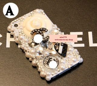 New Bling Bling Beautiful Camellia DIY Cell Phone Case I Phone 4 4s