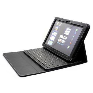 10 1 Faux Leather Portfolio Case Bluetooth Keyboard KB X3003B