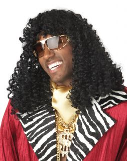 Black Curly Disco Afro 70s 80s Super Freak Supa Freakin Wig Costume