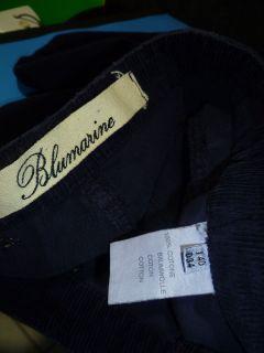 BLUMARINE Blue / Swarovski Crystals Corduroy Jeans Pants SZ 40