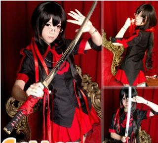 Blood C Clamp Cosplay Wig Costume Party Long Hair coser Clothes Dress