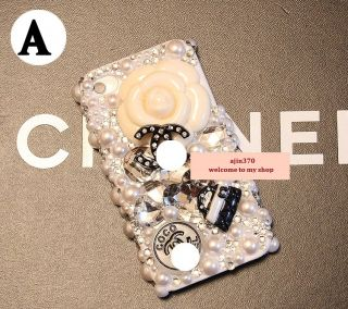 New Bling Beautiful Camellia DIY Cell Phone I Phone 4 4S Case Cover
