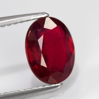 63ct 9x7mm Oval Top Stunning Pigeon Blood Red Ruby Madagascar