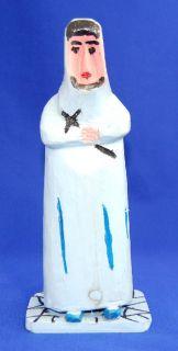 Emile Bluteau Folk Art Primitive Carving Listed Quebec Artist Nun w
