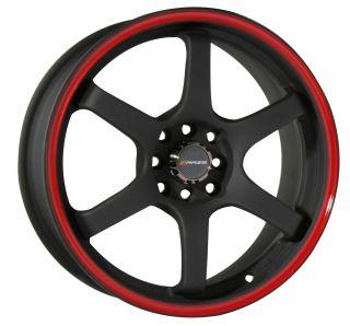 17 Black Wheels Rims Honda Accord Civic Fit Integra Yaris Sentra