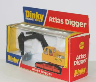 Toys 984 Atlas Digger Yellow Orange Black Jib Scarce Window Box