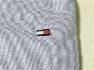 Mens Button Down Dress Shirt M L XL Slim Fit Denim Blue