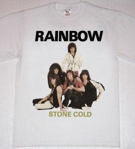Rainbow Stone Cold Ritchie Blackmore White New T Shirt