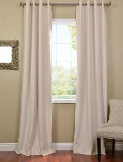 ivory grommet velvet blackout curtains drapes luxurious affordable
