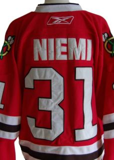 Antti Niemi Chicago Blackhawks CCM Official NHL Hockey Jersey XL 48