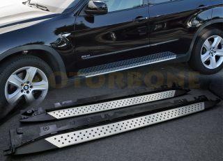 07 12 BMW x5 E70 Running Board Side Step Nerf Bar Rail Complete Kit