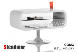 New Modern White Piano Paint TV Stand Como in Stock