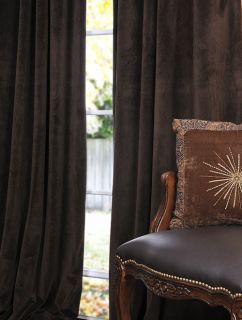 Java Pole Pocket Velvet Blackout Curtains Drapes
