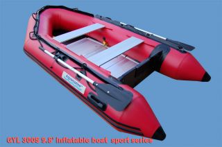 ft 910 Inflatable Fishing Boat Dinghy Sport Series with Aluminum