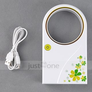 Portable Handheld Bladeless Mini USB Fan No Leaf Air Conditioner