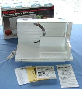 Rival Fold Away Electric Food Slicer Model 1044 with Original Box