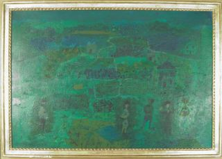 Arnold Blanch Original Modernist Oil Painting Listed