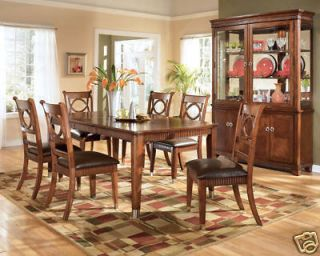 BLANCHE 7pcs FORMAL TRADITIONAL RECTANGULAR DINING ROOM TABLE CHAIRS